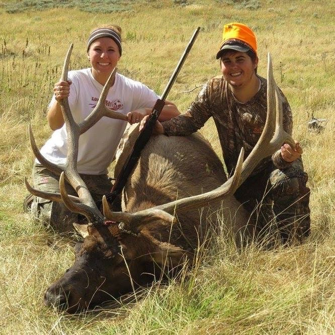 Wife, me and our elk